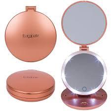 Makeup Mirror Light Amazon Com Folding Travel Mirror With Light 1x And 5x Led