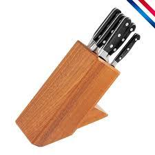 bloc couteau cuisine bloc 6 couteaux de cuisine forgés cuisine du chef made in