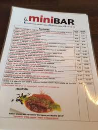 mini bar de cuisine the menu picture of el minibar madrid tripadvisor