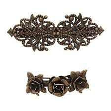 hair clasps 2pcs retro vintage metal barrette clip hair clasp roses