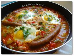 la cuisine de nelly chakchouka aux merguez et oeufs la cuisine de nelly