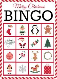 christmas bingo free printable grace and good eats