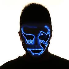 creepy mask 2018 el wire glowing creepy mask blue in