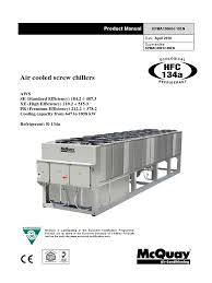 air cooled chillers aws pdf air conditioning heat