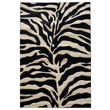 Zebra Area Rugs Zebra Print Black Beige Area Rug 5 X 7 Free Shipping Today