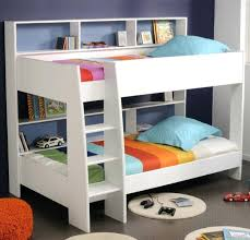 Solid Wood Bunk Beds With Storage Bunk Beds With Shelves Bunk Bed In White With Staircase