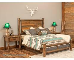 Firniture Barn Log Beds Rustic Bedroom Furniture Barnwood Bed Woodland Creek