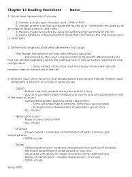 chap 13 reading worksheet 16 virus bacteria