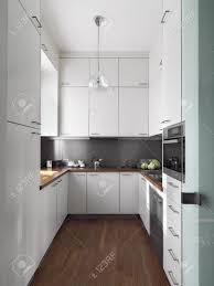K He Arbeitsplatte Detail Kleine Weiße Moderne Küche Aus Holz Fußboden Und Holz