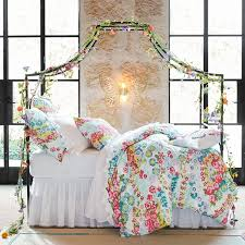 Pottery Barn Dorm Room Beautiful Blooms Duvet Cover Sham Pbteen