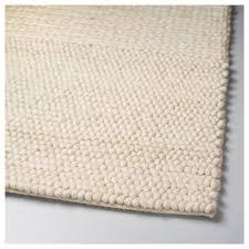 ibsker rug handmade off white 170x240 cm ikea