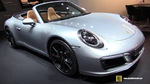 gold porsche convertible 2018 porsche 911 carrera s convertible exterior and interior