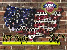 Made In America Map by Beer Cap Map