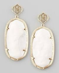 white earrings kendra darby earrings in palm white jewels