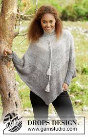 drops design poncho winter drizzle by drops design awesome poncho with sleeves and