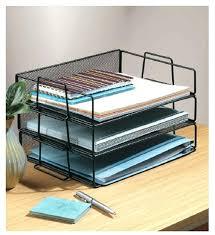 trieur papier bureau rangement bureau papier table en mactal mesh empilables bureau
