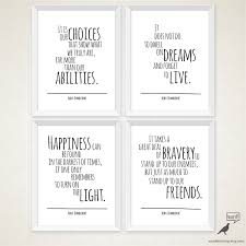 harry potter decor albus dumbledore 4 quote set happiness quote typography art