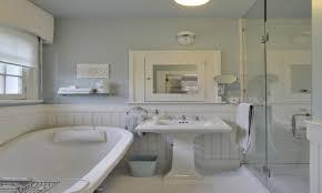 Beadboard Bathroom Ideas Cottage Backsplash Wide Beadboard Blue With White Beadboard