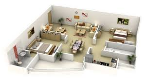 floor plan 3d house building design 50 3d floor plans lay out designs for 2 bedroom house or apartment