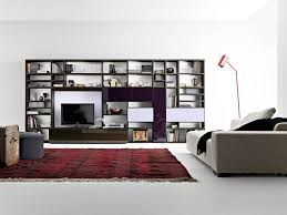 Dark Wood Bookshelves by Living Room Appealing Image Of Living Room Decoration Using White