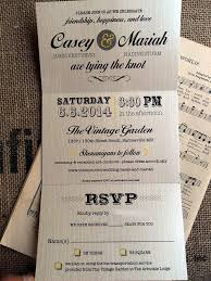 Tri Fold Invitations Items Similar To Wedding Trifold Invitations Perforated Rsvp