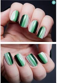 zoya nail polish blog going green with ombre striped nail art