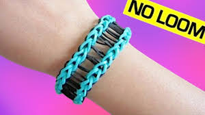 bracelet looms youtube images Railroad rainbow loom bracelet without loom using 2 forks jpg