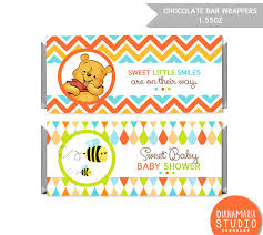chocolate bar wrapper winnie pooh printable candy wrapper