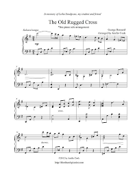 Song Lyrics Old Rugged Cross Free Sheet Music Bernard George The Old Rugged Cross Piano Solo