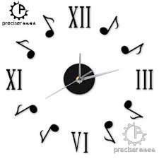 Music Note Home Decor Wall Decor 3d Clock Music Notes Promotion Shop For Promotional