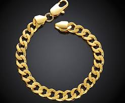 gold link bracelet mens images Heavy massive stamped yellow gold filled mens womens bracelet jpg