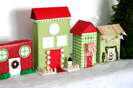 Recycled Christmas Village Paging Supermom