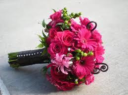Wedding Flowers Gallery Pink Black Bridesmaids Bouquet Wedding Flowers Gallery