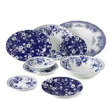 blue bouquet dinnerware collection williams sonoma