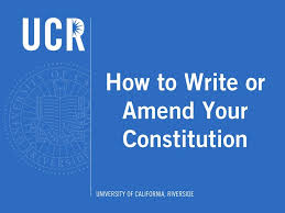 how to write or amend your constitution youtube