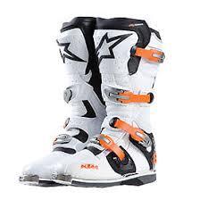alpinestars tech 8 light boots ktm alpinestars tech 8 light white black mx off road boots new rrp