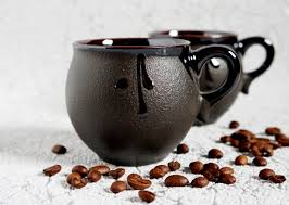 holiday gifts ceramic mug polar night set of 2 cups black coffee
