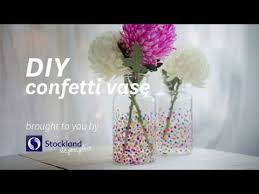 diy confetti vase the tall vase youtube