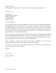 Cover Letter Document Judicial Law Clerk Cover Letter