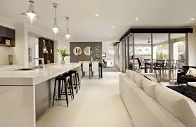 gorgeous kitchen lounge with corner sliding door dream home