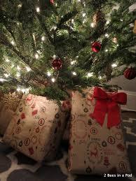 Christmas Tree Skirt Burlap Christmas Tour Of Jenn U0027s Home