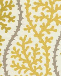 coral kelp ocean sea shell modern bold graphic print heavy weight