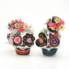 sugar skull cake topper dia de los muertos skull and groom cake toppers day of the