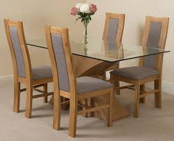 light oak dining room sets valencia oak 160cm wood and glass dining table with 4 stanford solid