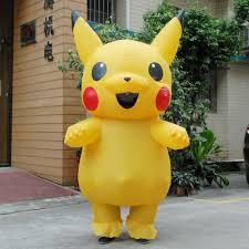 child mascot pikachu inflatable costume cosplay halloween