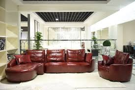special design contemporary leather recliner sofa brick red