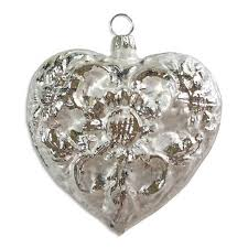 blown glass hearts and sweet ornaments