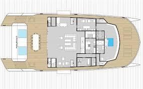 Luxury Yacht Floor Plans by Power Catamaran Luxury Super Yacht Cruising Flybridge