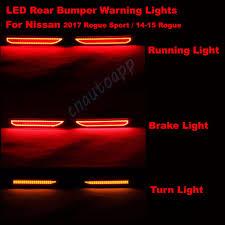 nissan rogue warning lights car rear bumper warning light brake l running light turn lights