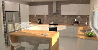 kitchen feature wall ideas modern gloss kitchen brick feature wall designs tierra este 77383